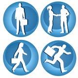 Hombres de negocios de los iconos Imagen de archivo libre de regalías