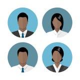 Hombres de negocios de los iconos Fotos de archivo
