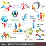 Hombres de negocios de los iconos de la comunidad 3d Imagen de archivo libre de regalías