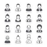 Hombres de negocios de los iconos del avatar. stock de ilustración