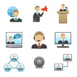 Hombres de negocios de los iconos fijados Imagenes de archivo