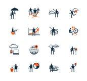 Hombres de negocios de los iconos Gestión, recursos humanos Imagen de archivo libre de regalías