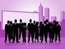 Hombres de negocios de los medios Team Businesswoman And Corporate Imagen de archivo