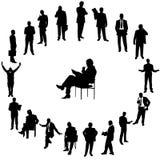 Hombres de negocios de los shelhouettes Fotos de archivo libres de regalías