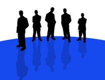 Hombres de negocios de shadows-3 stock de ilustración