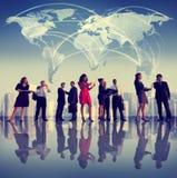 Hombres de negocios de Team Cityscape Concept de trabajo corporativo Fotografía de archivo libre de regalías