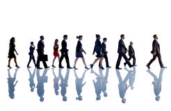 Hombres de negocios de Team Concept que camina corporativo Fotos de archivo