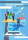 Hombres de negocios de Team Finance Growth acertado Imagen de archivo