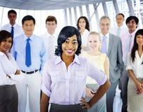 Hombres de negocios de Team Success Cheerful Concept Imagenes de archivo