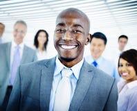 Hombres de negocios de Team Success Cheerful Concept Imagen de archivo libre de regalías