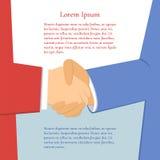 Hombres de negocios del apretón de manos ilustración del vector