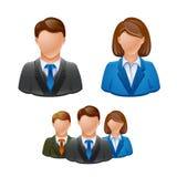 Hombres de negocios del avatar del icono de la gente Foto de archivo