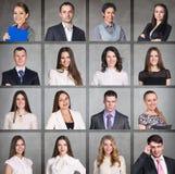Hombres de negocios del collage del retrato imágenes de archivo libres de regalías