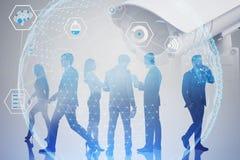 Hombres de negocios del concepto digital de la vigilancia fotografía de archivo libre de regalías