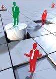 Hombres de negocios del concepto en 3d los bloques 1 Imagenes de archivo