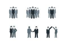 Hombres de negocios del conjunto del icono Imagen de archivo libre de regalías