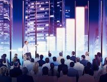 Hombres de negocios del crecimiento del seminario de la reunión de la conferencia que entrena a Conce Foto de archivo