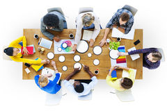 Hombres de negocios del diseño Team Brainstorming Meeting Concept Fotografía de archivo libre de regalías