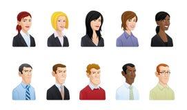 Hombres de negocios del ejemplo del avatar ilustración del vector