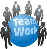 Hombres de negocios del equipo de la bola del trabajo ilustración del vector