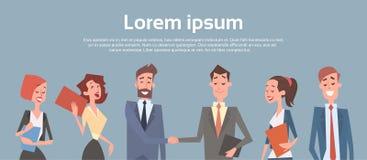 Hombres de negocios del grupo de Team Human Resources Businessman Hand del acuerdo de la sacudida ilustración del vector