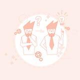 Hombres de negocios del grupo del concepto de Team Brainstorm Success Teamwork Cooperation Fotos de archivo libres de regalías