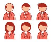 Hombres de negocios del icono Foto de archivo