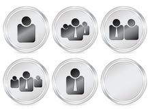 Hombres de negocios del icono del círculo Imágenes de archivo libres de regalías