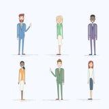 Hombres de negocios del juego de caracteres de la historieta integral Imagen de archivo