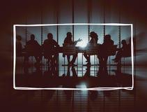 Hombres de negocios del marco del concepto corporativo del gráfico Foto de archivo libre de regalías