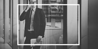 Hombres de negocios del marco del concepto corporativo del gráfico Foto de archivo