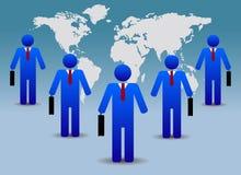 Hombres de negocios del mundo Imagen de archivo