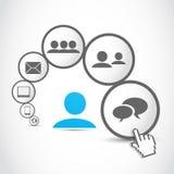 Hombres de negocios del proceso de la comunicación stock de ilustración