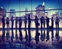 Hombres de negocios del profesional Team Concept de Coorperate de la diversidad Imágenes de archivo libres de regalías