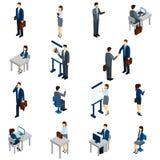 Hombres de negocios del sistema isométrico ilustración del vector