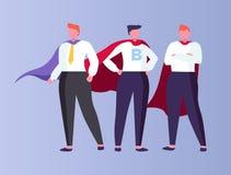 Hombres de negocios del super héroe que llevan las capas aisladas libre illustration
