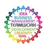 Hombres de negocios del trabajo en equipo del logotipo Imagenes de archivo