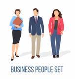 Hombres de negocios del vector plano de los recursos humanos ilustración del vector