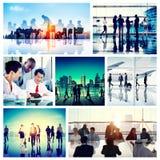 Hombres de negocios del viaje del concepto corporativo de la colección Imagenes de archivo