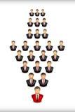 Hombres de negocios en el establecimiento de una red Fotografía de archivo