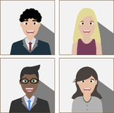 Hombres de negocios en el fondo blanco ilustración del vector