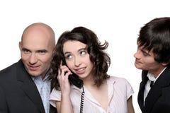 Hombres de negocios en el teléfono Fotografía de archivo