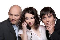 Hombres de negocios en el teléfono Imagenes de archivo