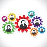 Hombres de negocios en engranaje colorido libre illustration