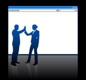 Hombres de negocios en fondo con web browser ilustración del vector