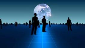 Hombres de negocios en fondo global libre illustration