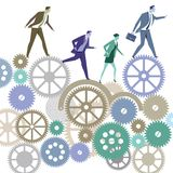 Hombres de negocios en la competencia stock de ilustración