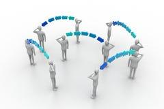 Hombres de negocios en la conexión de red
