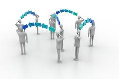 Hombres de negocios en la conexión de red Fotos de archivo libres de regalías