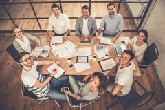Hombres de negocios en la conferencia imágenes de archivo libres de regalías